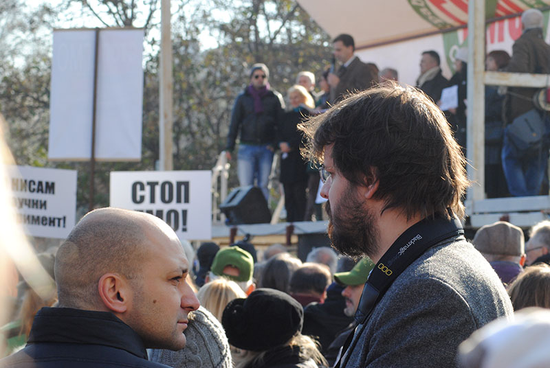 Nikola Draganić (levo), Nikola Tulimirović (Narodni poslanik)